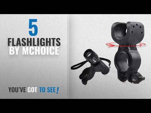 Top 5 Mchoice Flashlights [2018]: Mchoice Torch Clip Mount Bicycle Front Light Bracket Flashlight