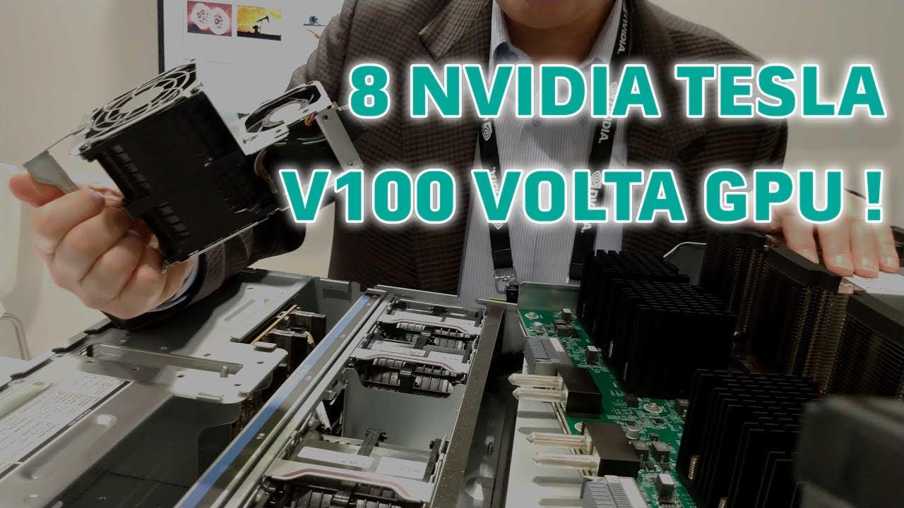 8 NVIDIA TESLA V100 VOLTA GPU server from HP