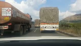 Mumbai Nashik Expressway. Extreme driving on National Highway 3