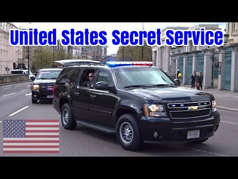 President Obama Motorcade In London - Armored Chevrolet Suburbans