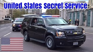 President Obama motorcade in London - Armored Chevrolet Suburbans