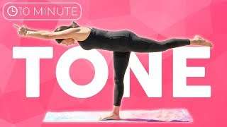 Full Body Yoga Workout (10 minute yoga) Strength & Tone Yoga for Weight Loss | Sarah Beth Yoga