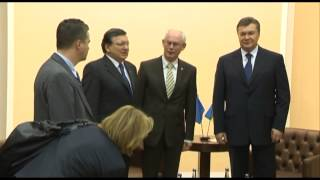 Eastern Partnership Summit, 28 November. Trilateral meeting with President of Ukraine