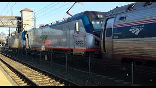 MUST SEE!! Acela Stops,  Double Headers, Special Cars, AEM-7s, and 642 at Kingston!!
