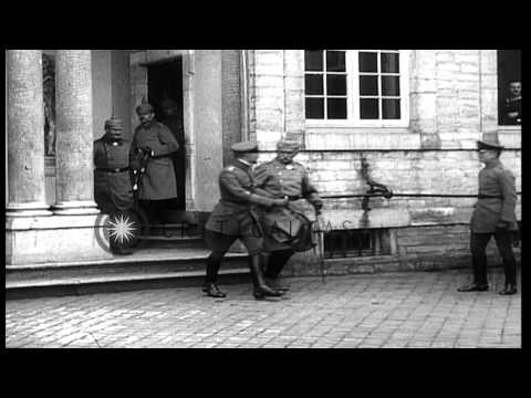 Kaiser Wilhelm II come out of a building in...