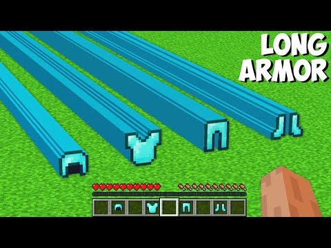 What if YOU CRAFT SUPER LONG ARMOR in Minecraft ? NEW SECRET ARMOR !