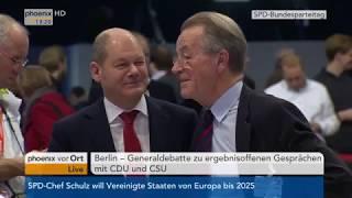 Generaldebatte beim Bundesparteitag der SPD  (Teil 1) am 07.12.17