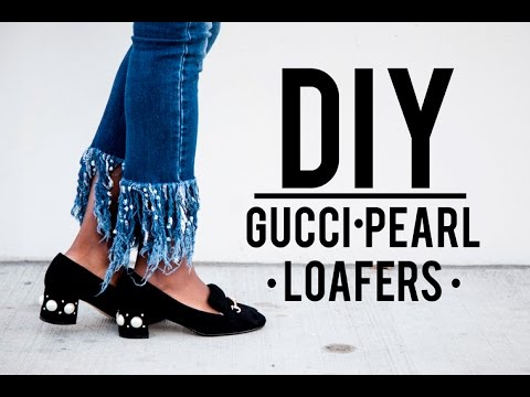 DIY: Gucci Pearl Loafers (EASY) - YouTube