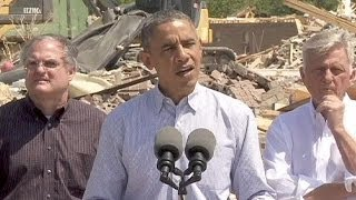 Obama promises recovery help in tornado-ravaged Arkansas