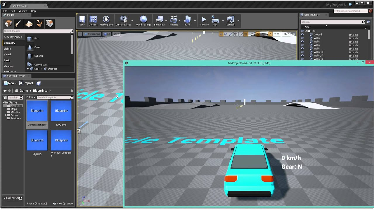Fixing ue4 vehicle template for vr 442 youtube malvernweather Choice Image