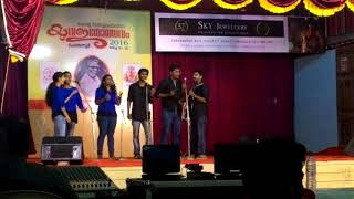 Kerala University Youth Fest 2016 Western Vocals Group First Prize