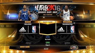 Throwback Thursday - NBA 2K13 - 02-03 Wizards vs 02-03 Magic - URB - PC MOD - HD