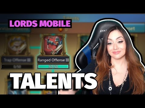 Lords Mobile : Talent Specs