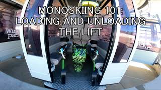 Intro Into Mono-skiing (Loading The Chairlift)