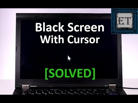 Windows 10 Black Screen With Cursor Solved Youtube