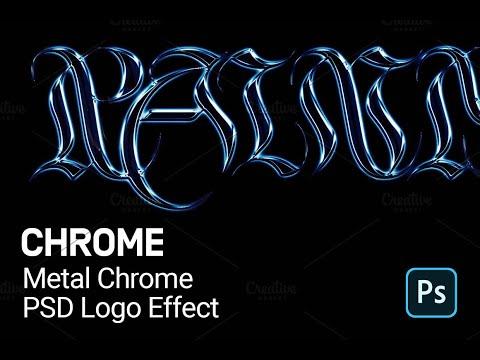 Metal Chrome Logo Photoshop Tutorial