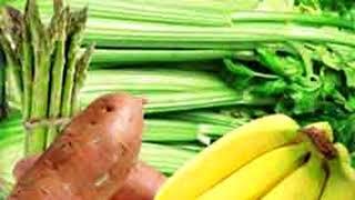Les aliments riches en potassium, pour équilibrer une diète trop riche en sodium.