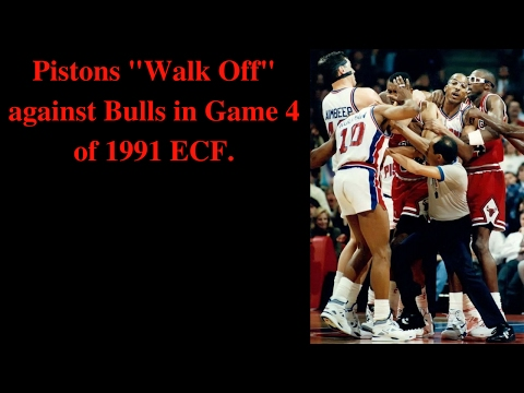 "Pistons ""Walk Off"" against Bulls in Game 4 of 1991 ECF"