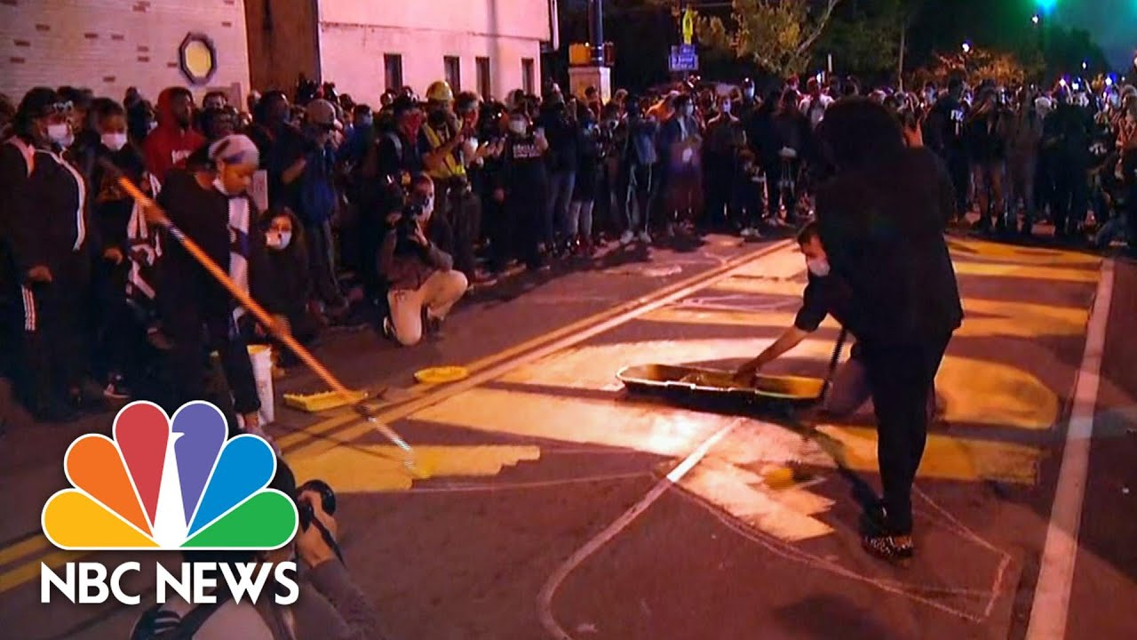 Rochester Protesters Paint Black Lives Matter On Street
