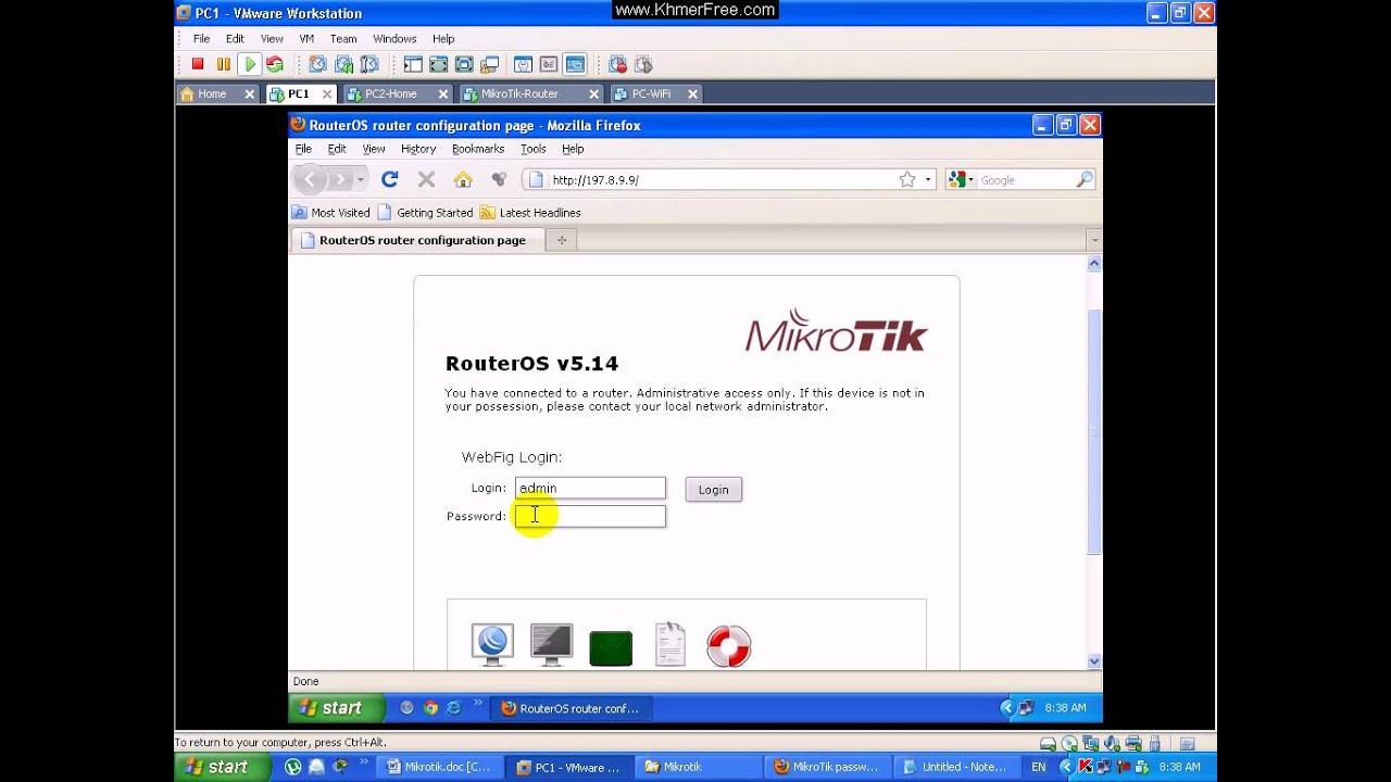 MikroTik Tutorial Login MikroTik by WebFig