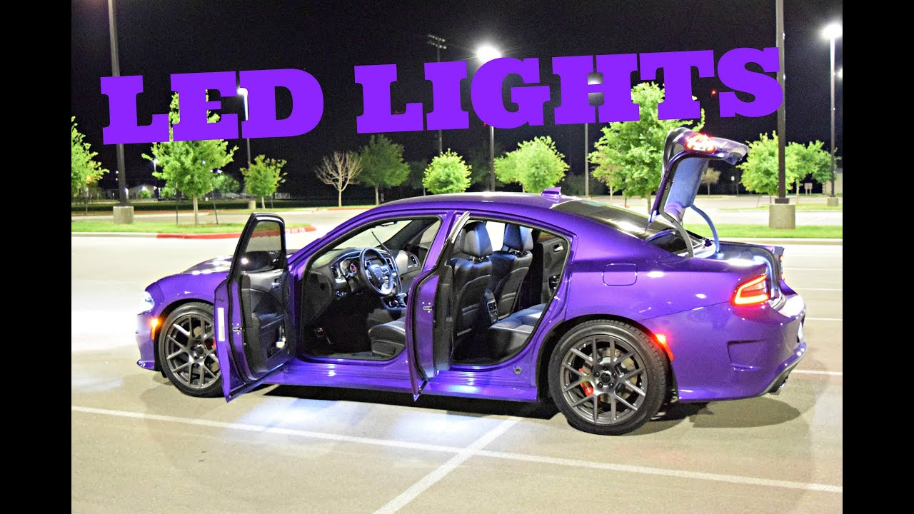 2016 Dodge Charger Scat Pack Exterior Interior Lights
