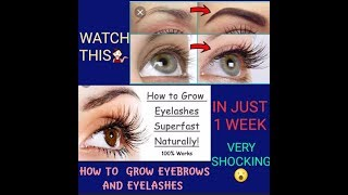 HOW TO GROW EYEBROWS AND EYELASHES WITHIN 1 WEEK USING NATURAL PRODUCTS/ TAMIL