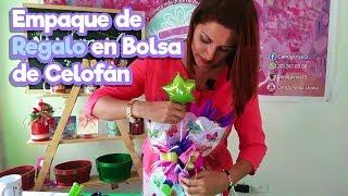Empaque de Regalo en Bolsa de Celofán |Tutorial como hacer una envoltura de regalo.