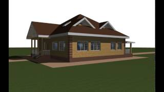 Дом из пеноблока проект ПБ-331(Проекты домов из пеноблока, видео презентация, 3д модель дома пб-331. Общая площадь: 293 Жилая площадь: 154 Площад..., 2015-06-26T16:25:48.000Z)