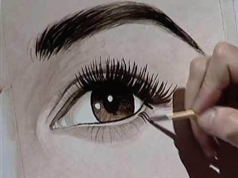 How to paint a brown eye 3 como pintar una ojo color caf - Maneras de pintar los ojos ...