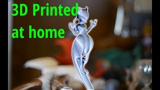Mewtwo Pokemon Figure 3D Printed: Tutorial (Orientation and Support)