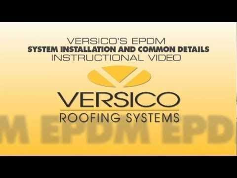 VersiGard EPDM System Installation U0026 Common Details Instructional Video. Versico  Roofing Systems