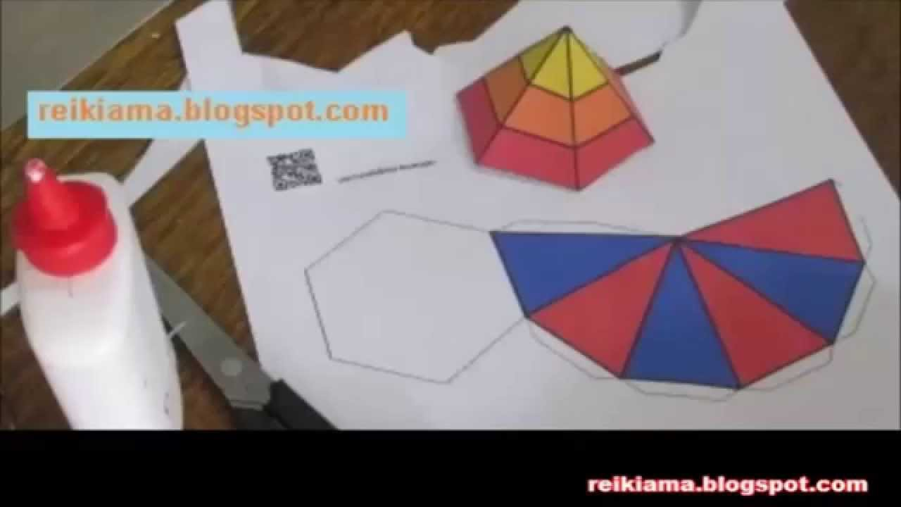 Diy Piramide Hexagonal Com Moldes Para Imprimir No Blog Youtube