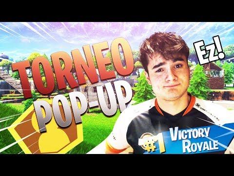 ¡GANANDO EN EL TORNEO DE POP-UP FORTNITE!