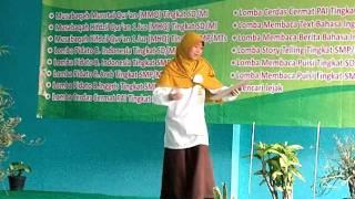 Juara 1 lomba baca Puisi MTs PERSIS 68 Sukabumi