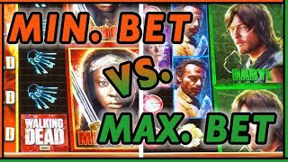 👹 Walking Dead ➡ MIN vs MAX Bet 💰 ✦ Who WINS more? ✦ Slot Fruit Machine Pokies w Brian Christopher