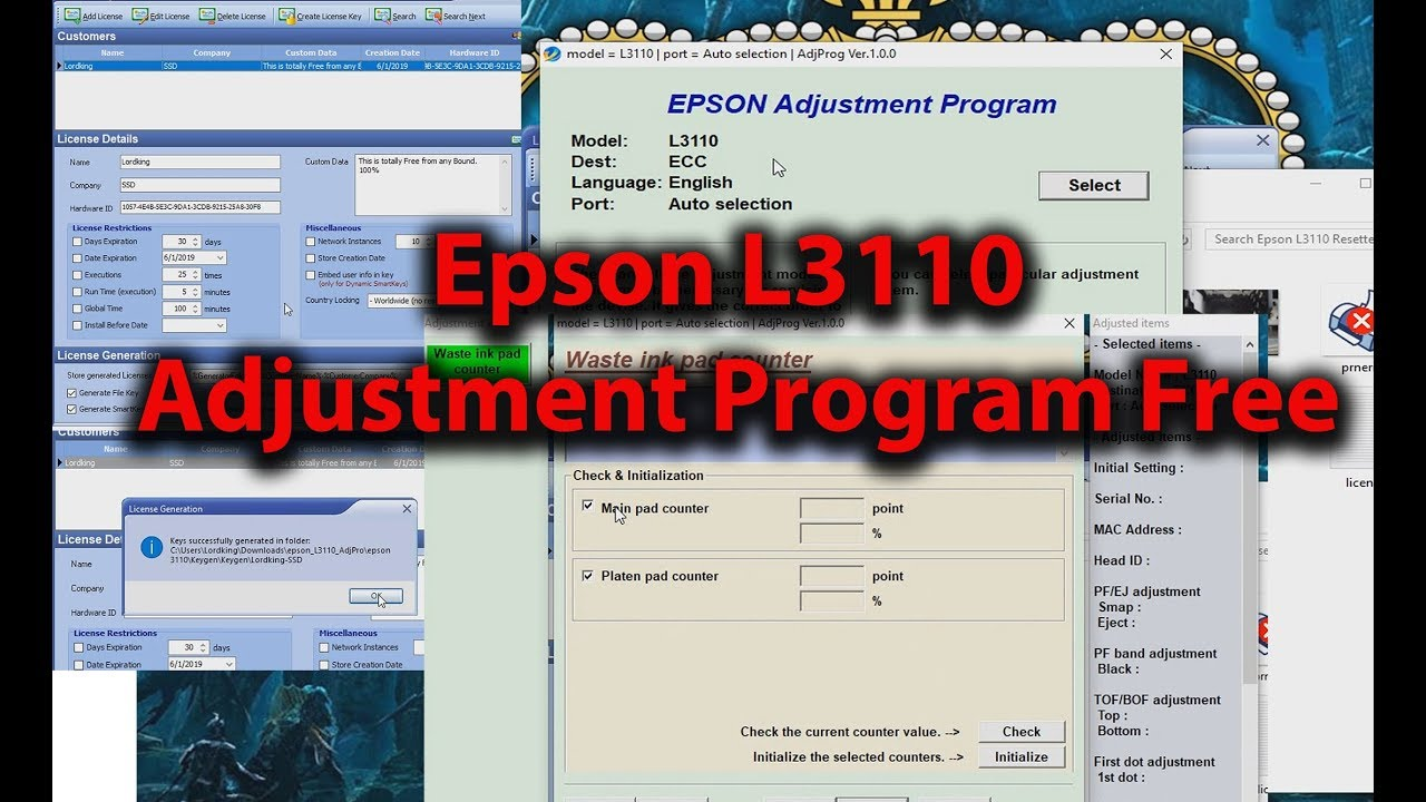 Epson L3110 Resetter Free Download