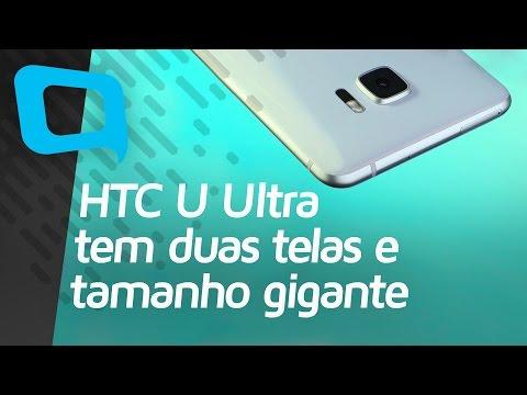 HTC U Ultra tem duas telas e tamanho gigante - Hoje no TecMundo