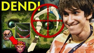 DENDI Pudge WTF Next Level Hook on Monkey - Old Signature SET Dota 2