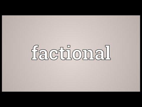 Header of factional