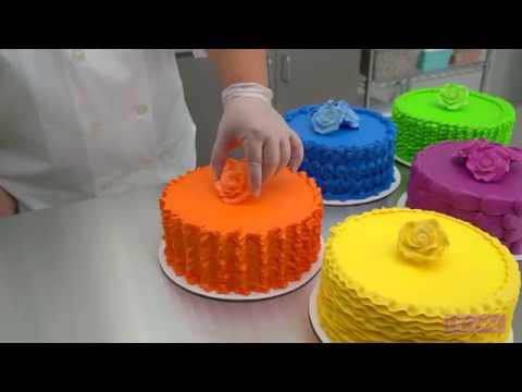 Cake Decorating Piping Techniques How To Make A Plume Border : 5 Simply Stunning Piping Techniques - YouTube