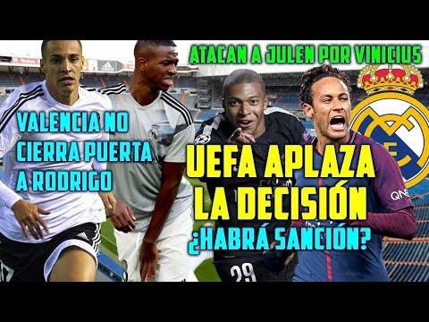 UEFA GANA TIEMPO ¿SANCIONARÁ PSG? | VALENCIA NO CIERRA PUERTA A RODRIGO | RIVALDO ATACA LOPETEGUI