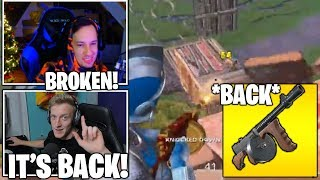 STREAMER Reacts TO 'Drum Gun' FINALLY Back To Fortnite & USES IT! Unvaulted! (Fortnite Moments)