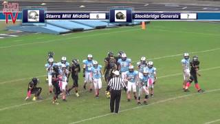TwinSportsTV: Stockbridge Generals vs Starrs Mill Middle