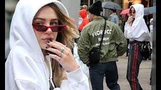 Brooklyn Beckham dons green coat as Delilah Hamlin is incognito in NYC