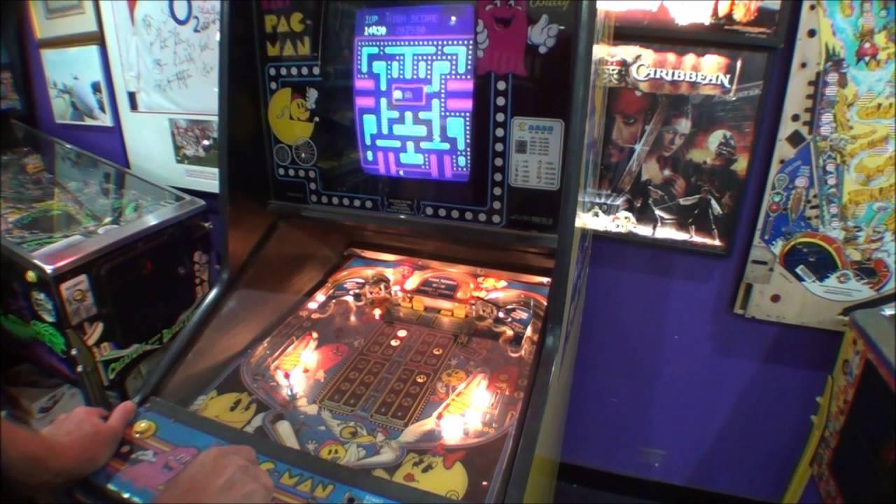 Pac Man Machine >> 1982 Baby Pac-Man Arcade Pinball Machine - YouTube