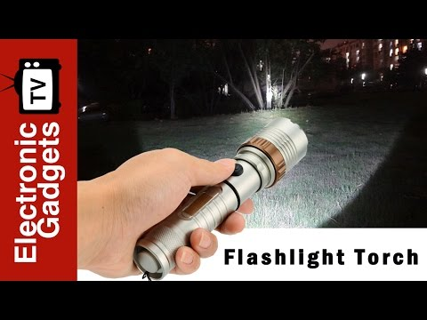 LED Rechargeable Flashlight Torch with With Hammer Feature, CREE XML T6
