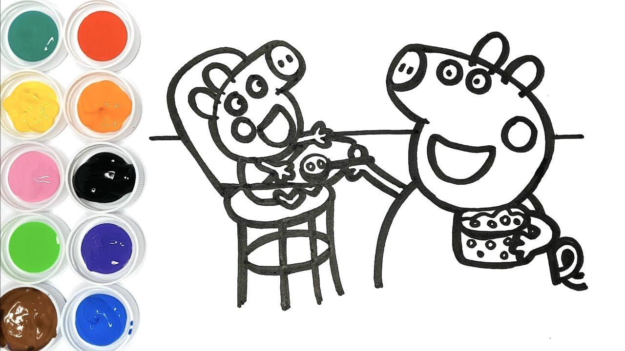 Dessin Et Coloriage Peppa Pig Et Bébé Alexandre Dessin Pour Bébé