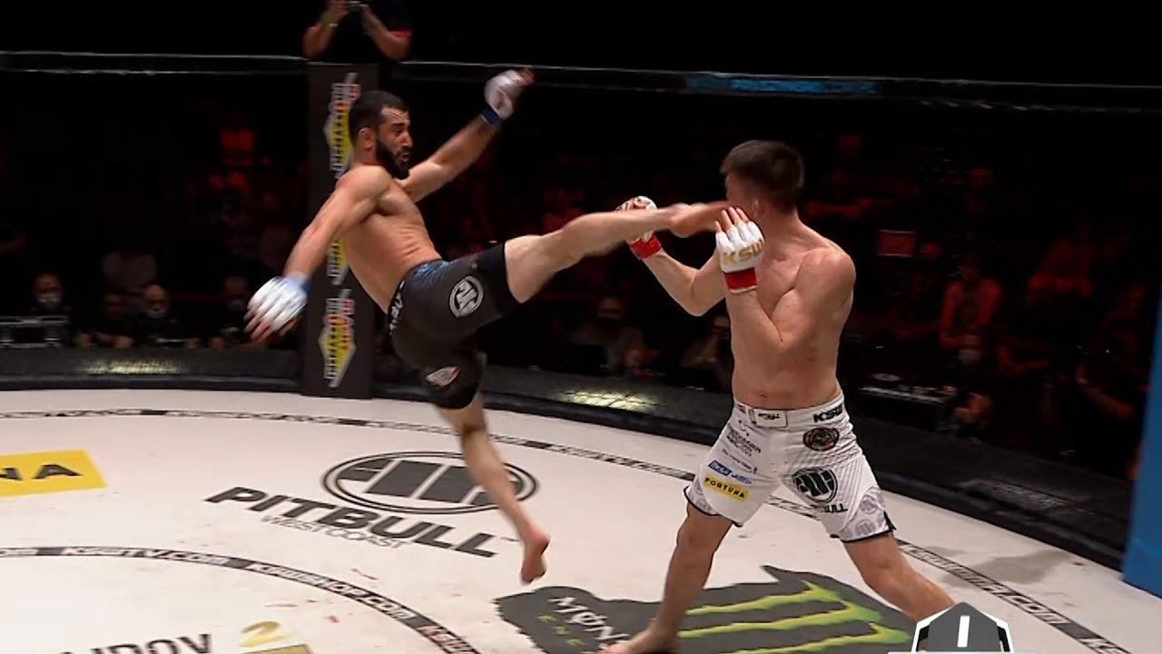 Download Mamed Khalidov znokautował latającym kopnięciem Askhama | KSW 55
