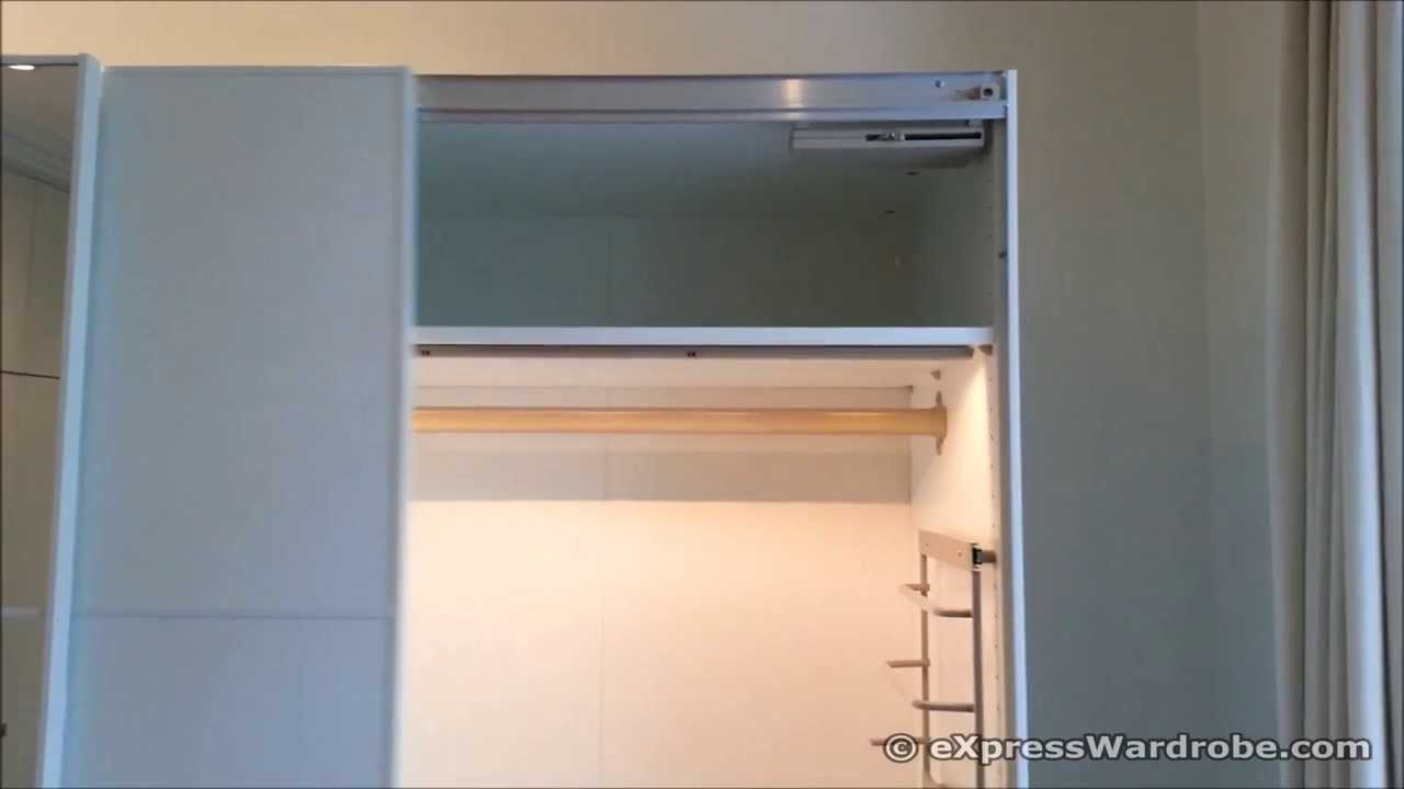komplement light and soft close system for ikea pax modular wardrobes