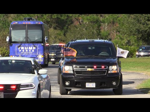 Mike Pence Motorcade Rolls Through Tampa